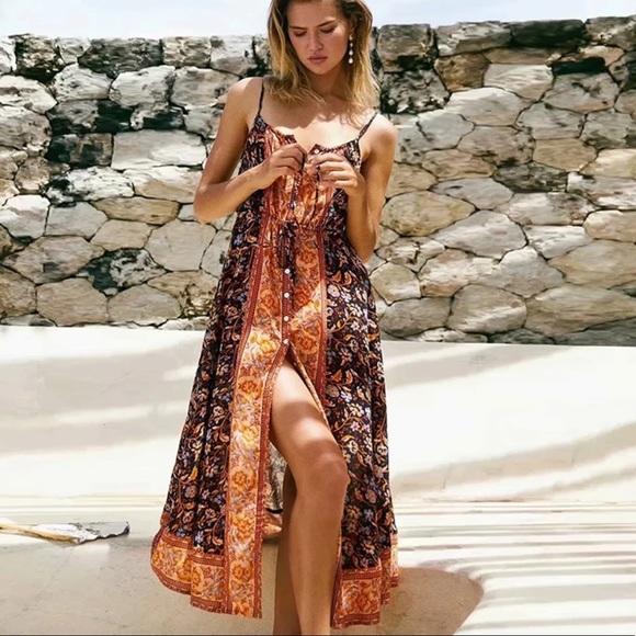 Floral Print Floral Sundress Hippie Clothes Tulip Dress Mini Dress Boho Clothes.